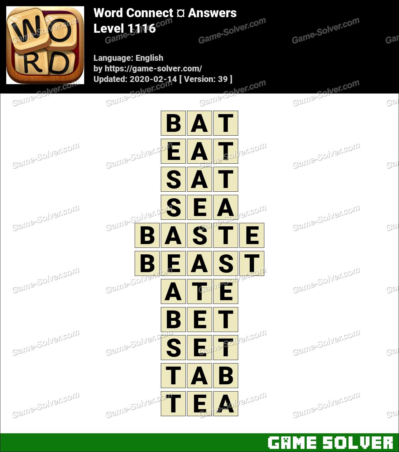 Word Connect Level 1116 Answers