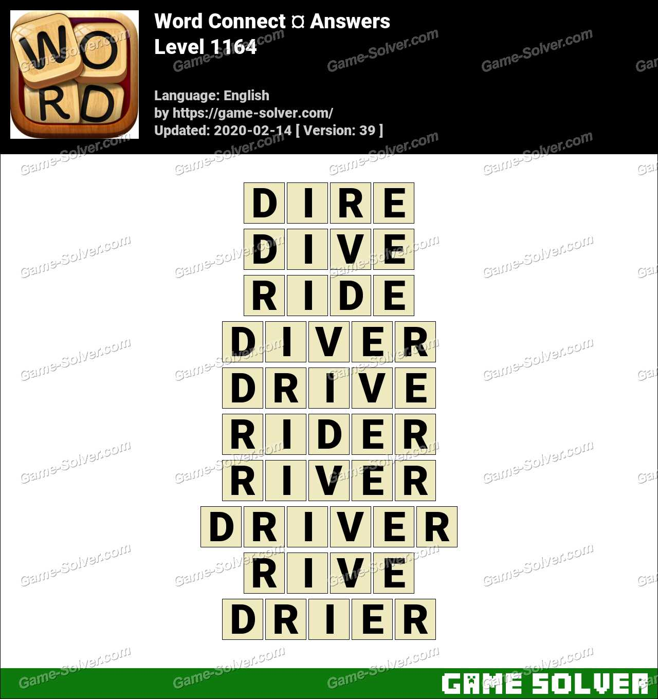 Word Connect Level 1164 Answers