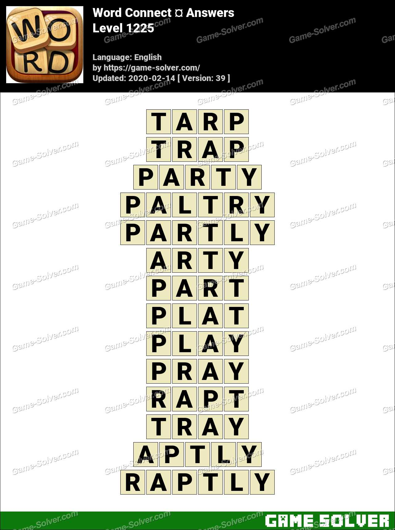 Word Connect Level 1225 Answers