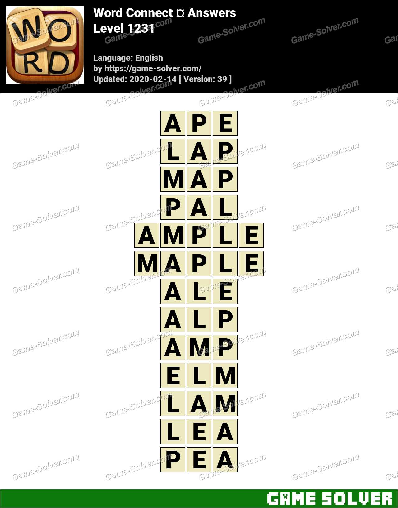 Word Connect Level 1231 Answers