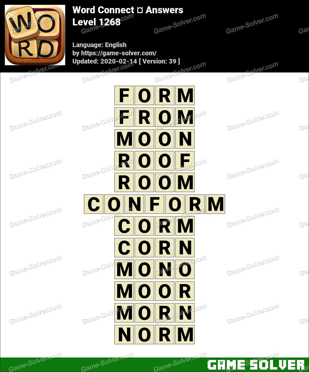 Word Connect Level 1268 Answers