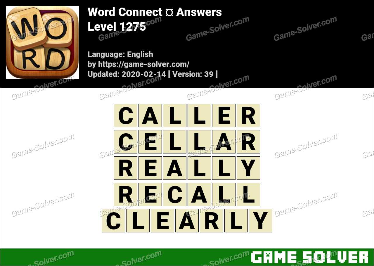 Word Connect Level 1275 Answers