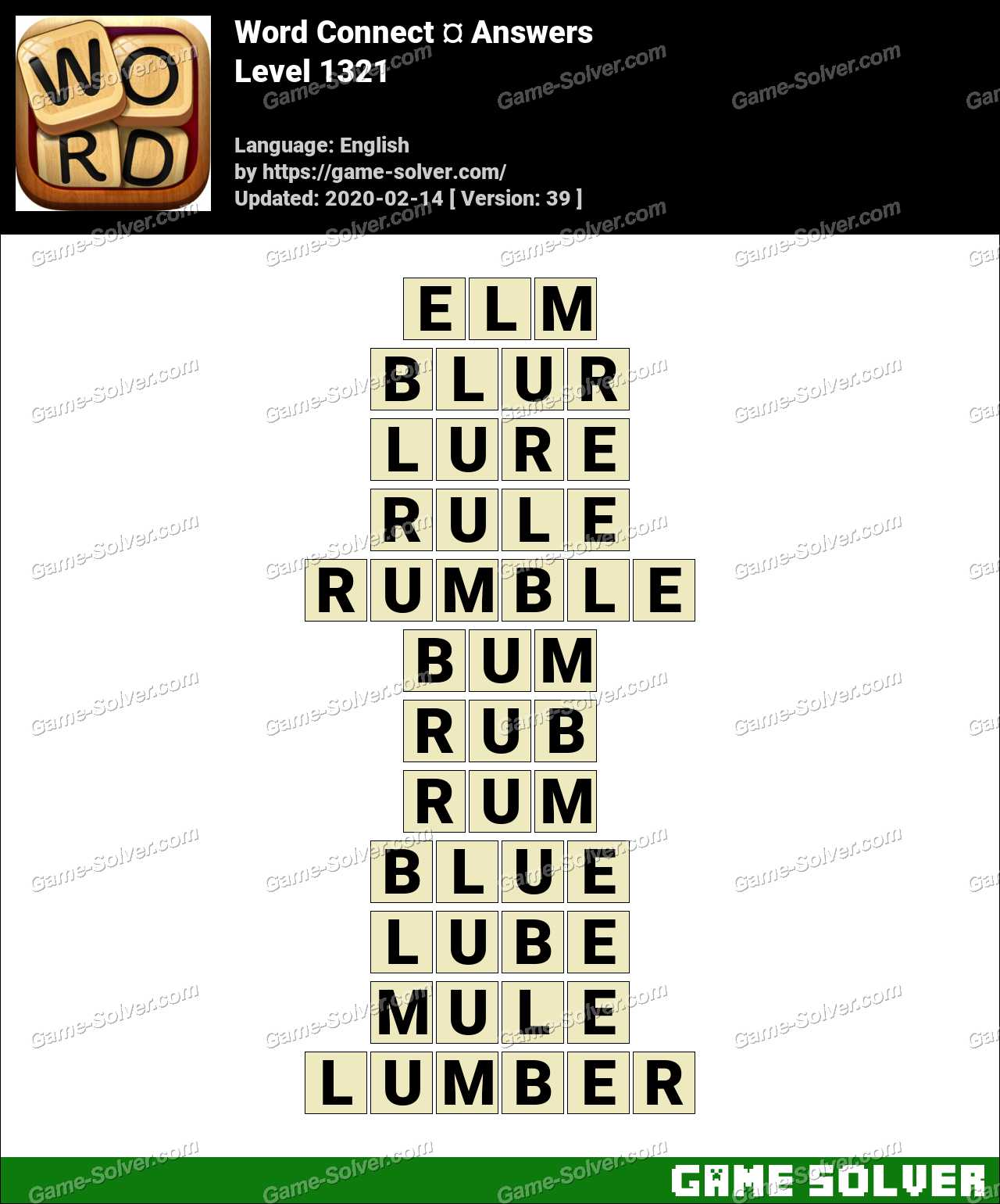 Word Connect Level 1321 Answers