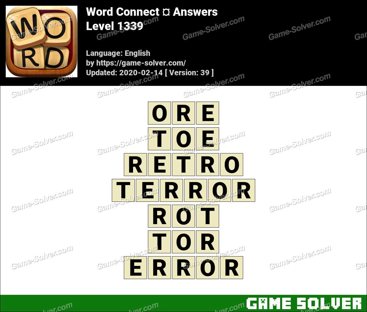 Word Connect Level 1339 Answers