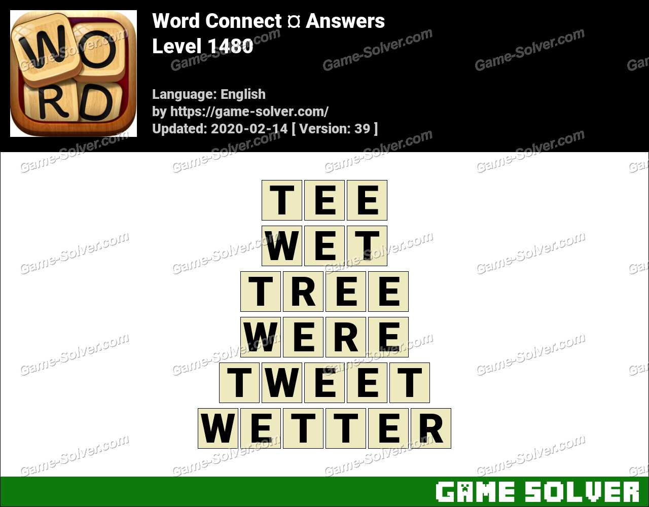 Word Connect Level 1480 Answers