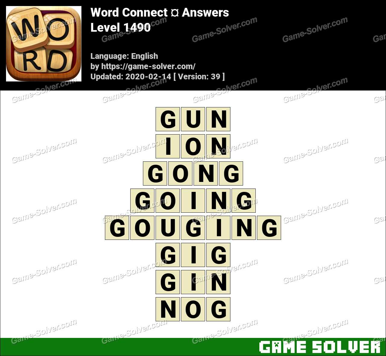 Word Connect Level 1490 Answers