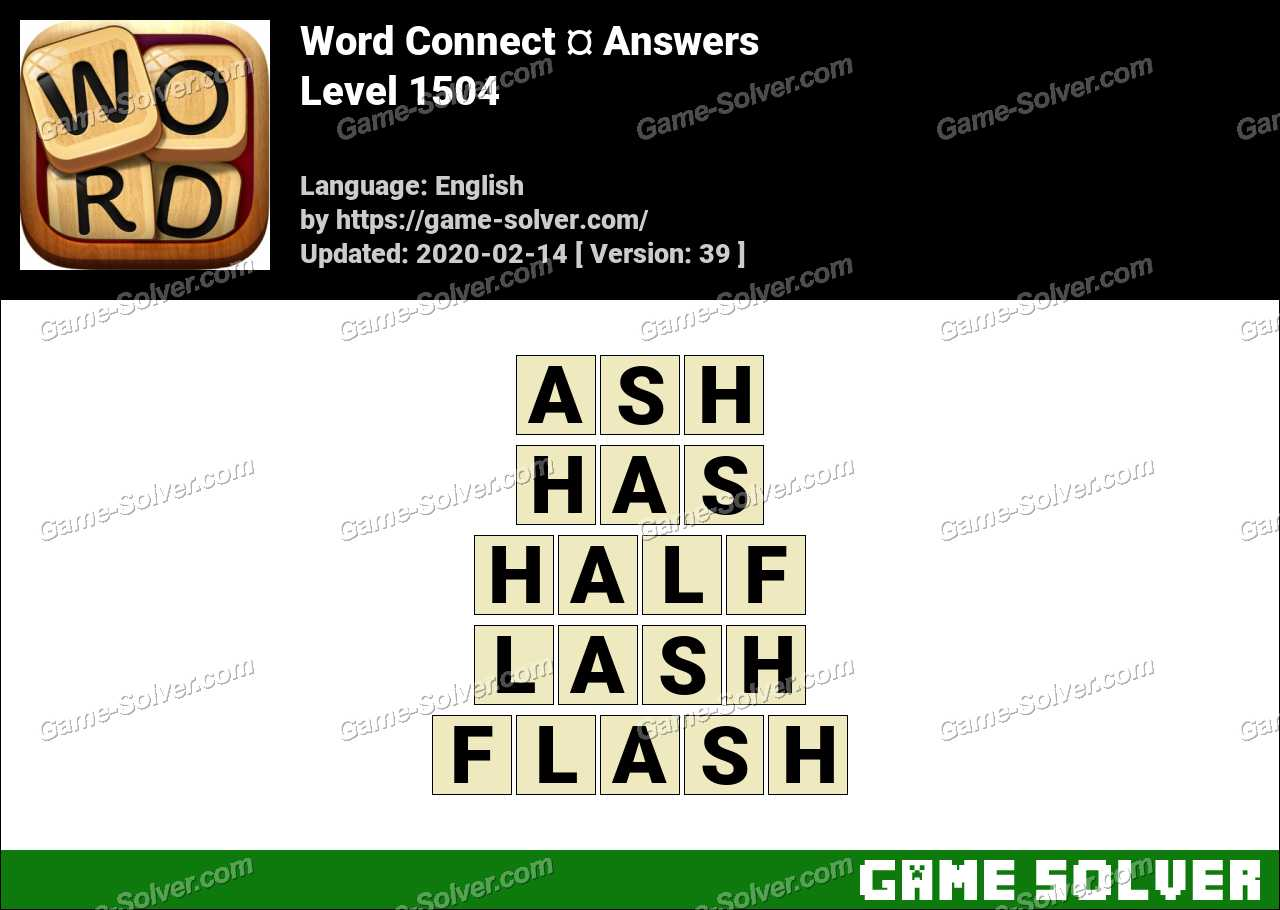 Word Connect Level 1504 Answers