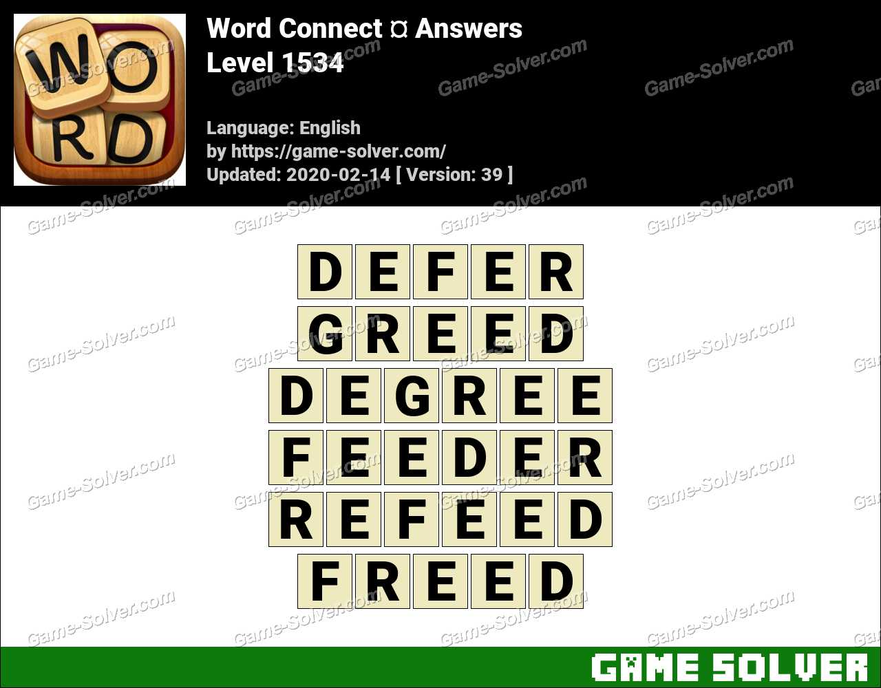 Word Connect Level 1534 Answers