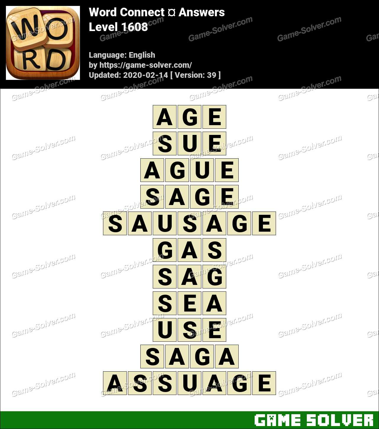 Word Connect Level 1608 Answers