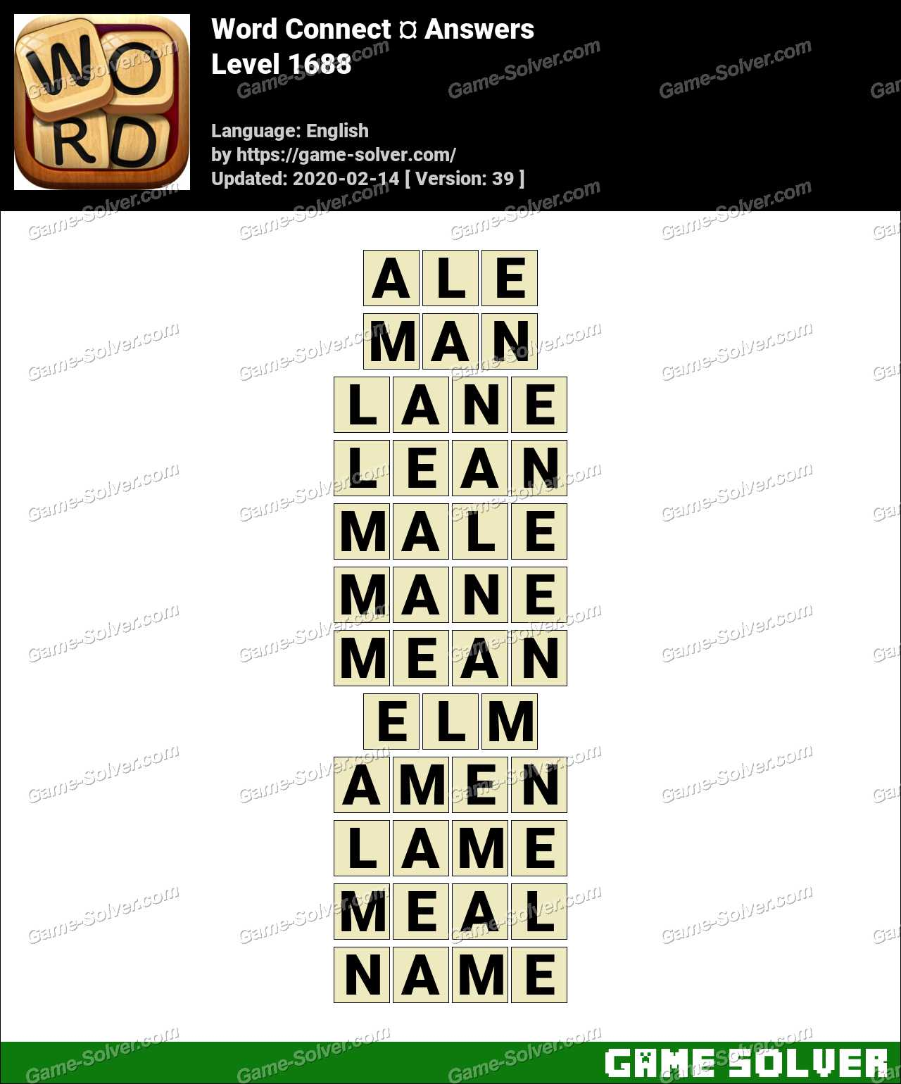 Word Connect Level 1688 Answers