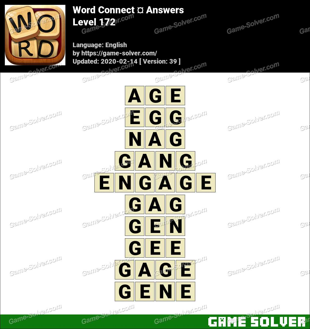 Word Connect Level 172 Answers