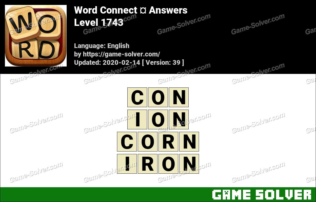 Word Connect Level 1743 Answers
