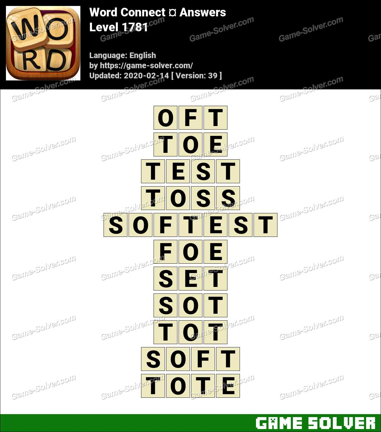 Word Connect Level 1781 Answers