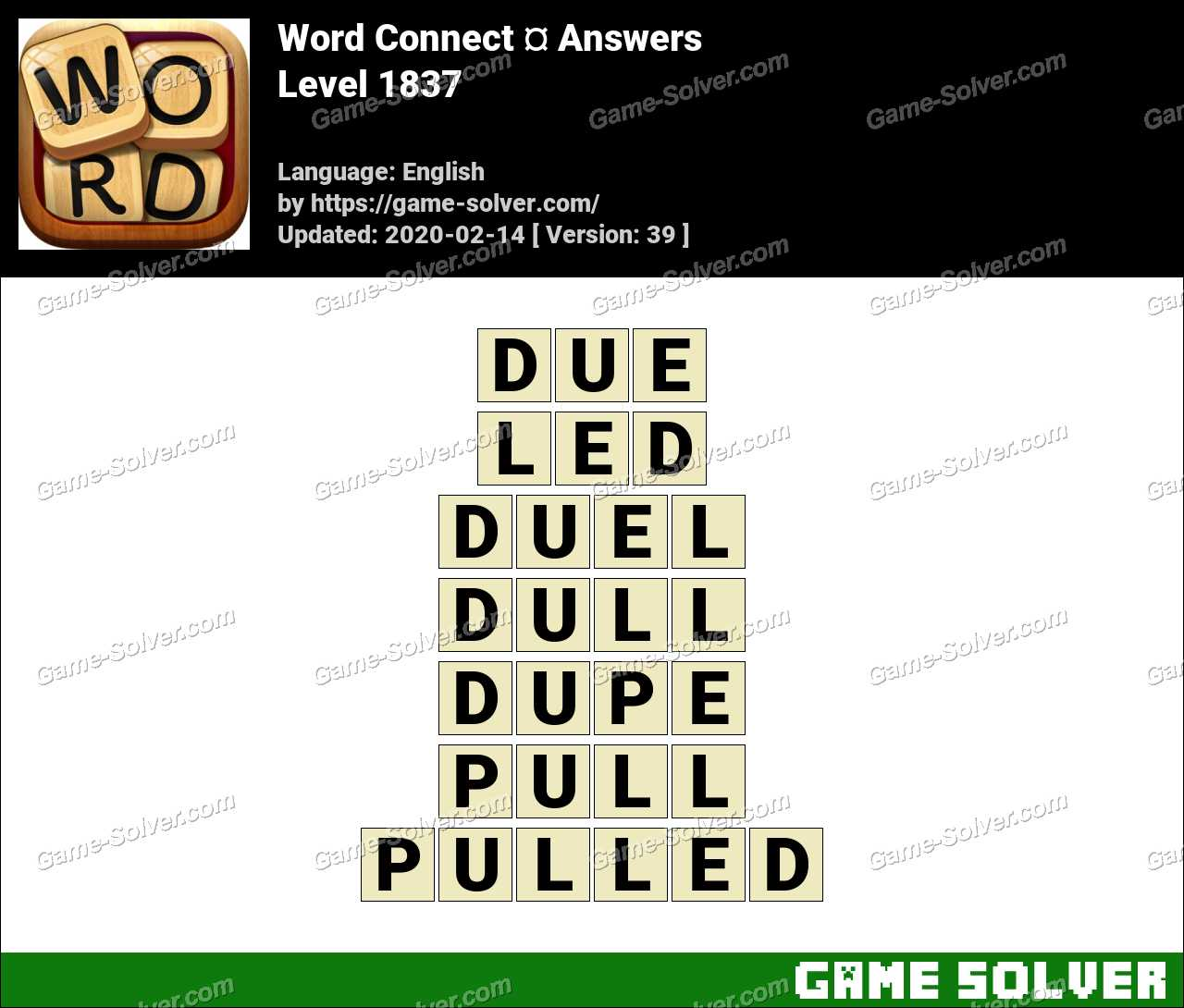 Word Connect Level 1837 Answers