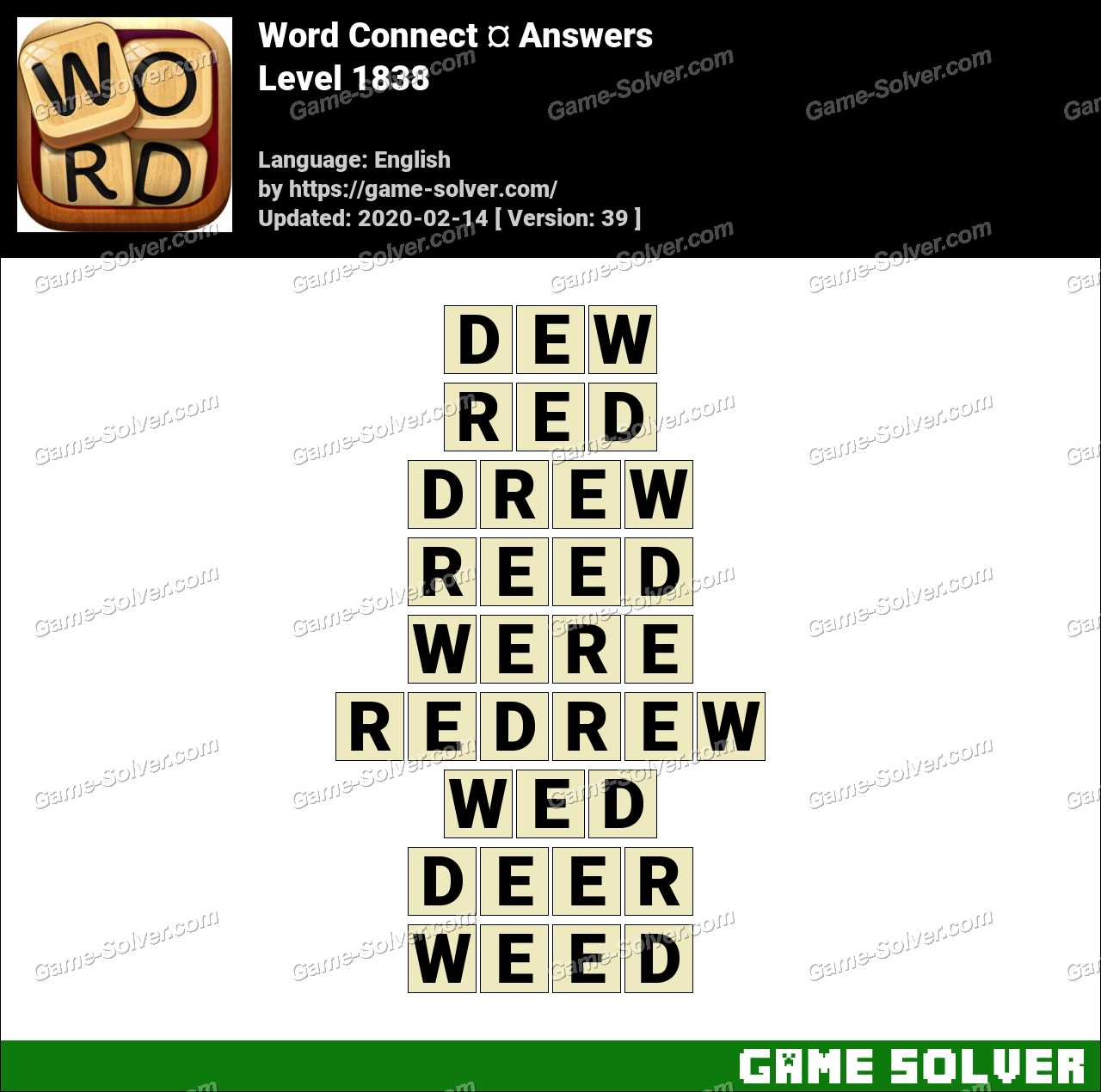 Word Connect Level 1838 Answers