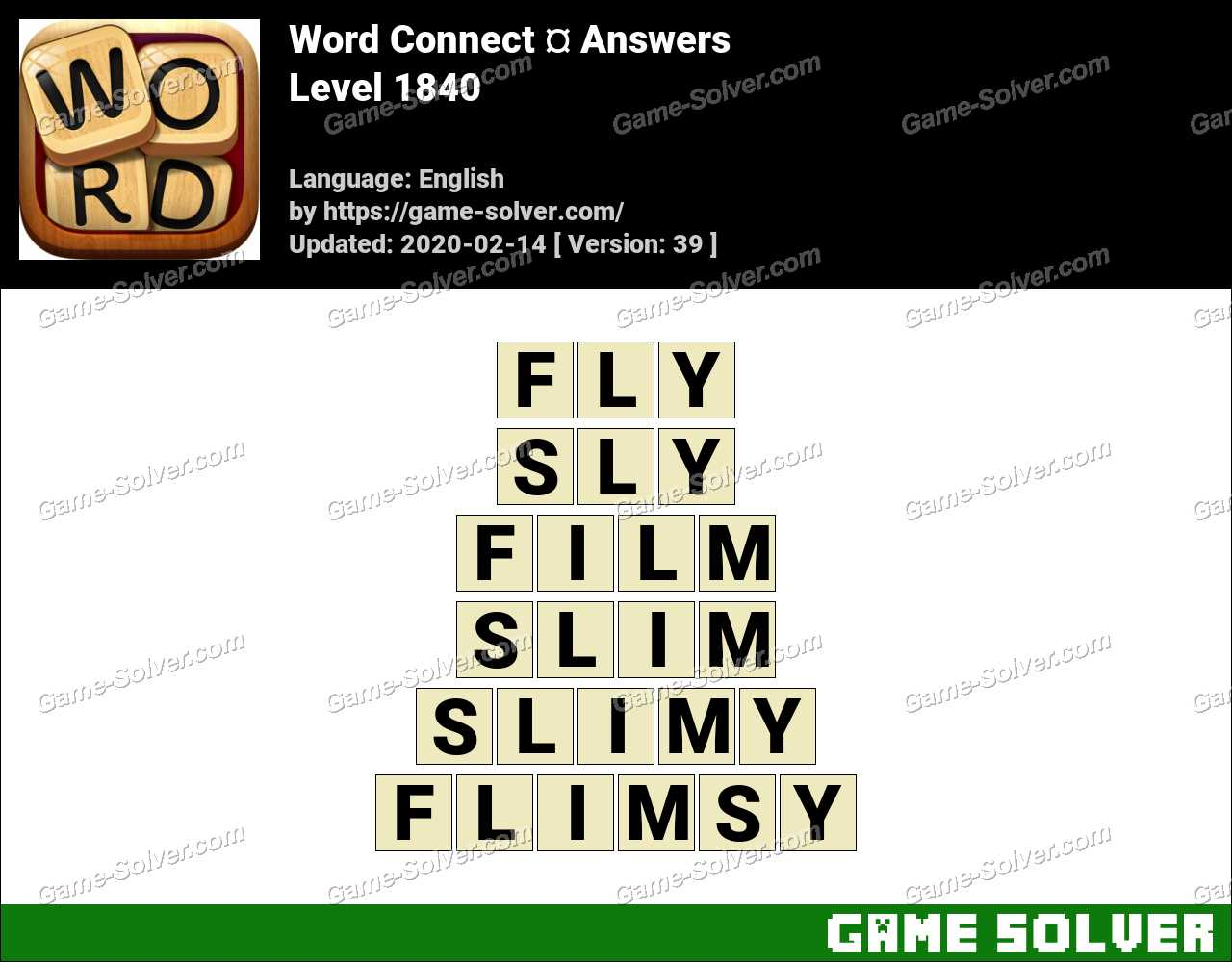 Word Connect Level 1840 Answers