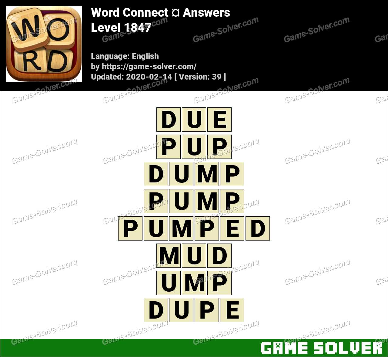 Word Connect Level 1847 Answers