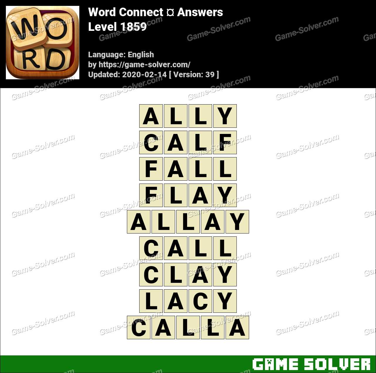 Word Connect Level 1859 Answers