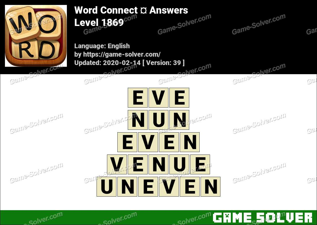 Word Connect Level 1869 Answers