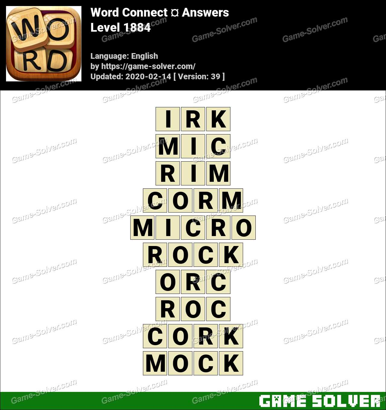Word Connect Level 1884 Answers