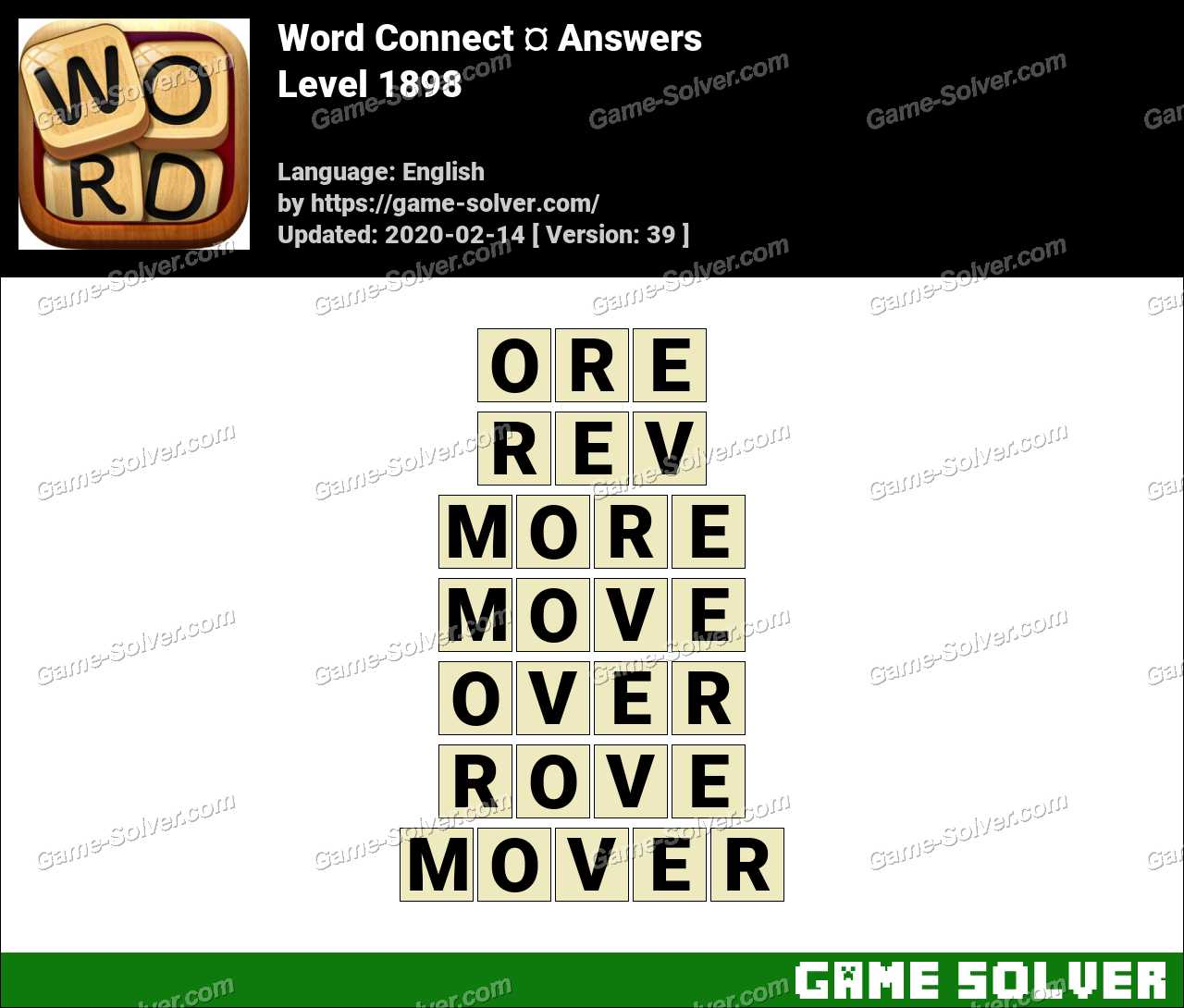 Word Connect Level 1898 Answers