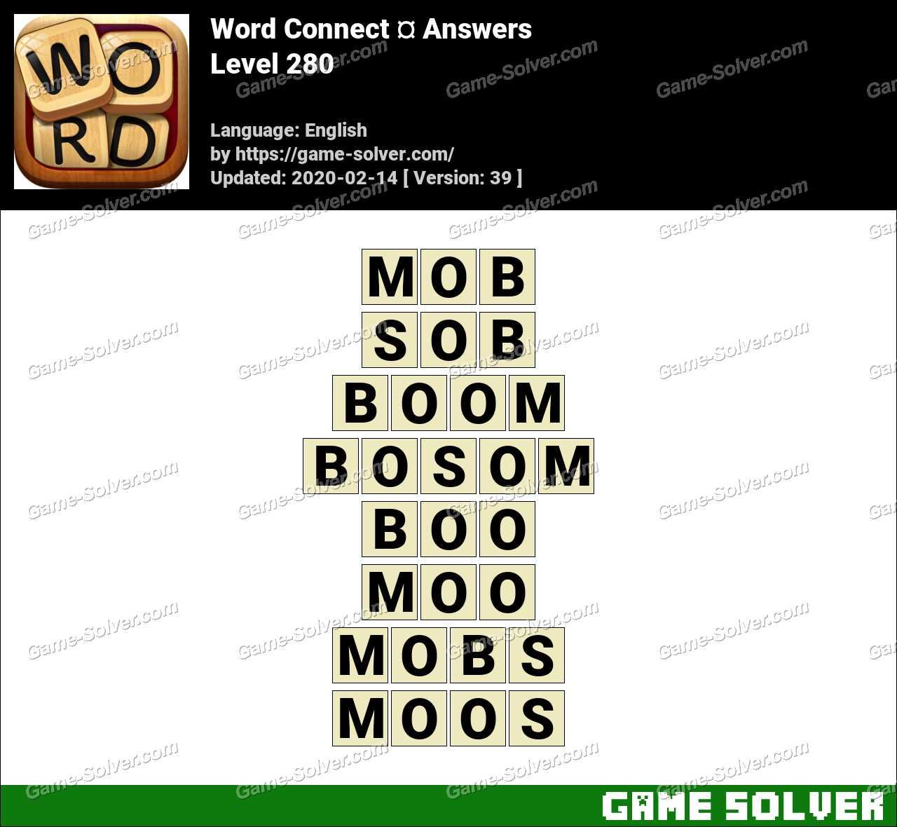 Word Connect Level 280 Answers