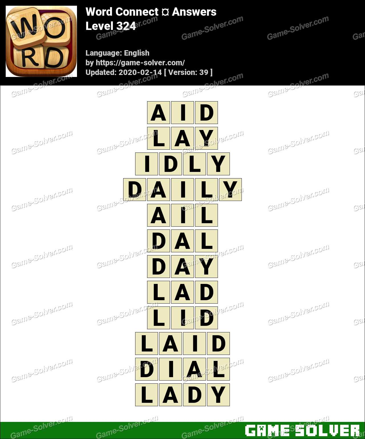 Word Connect Level 324 Answers