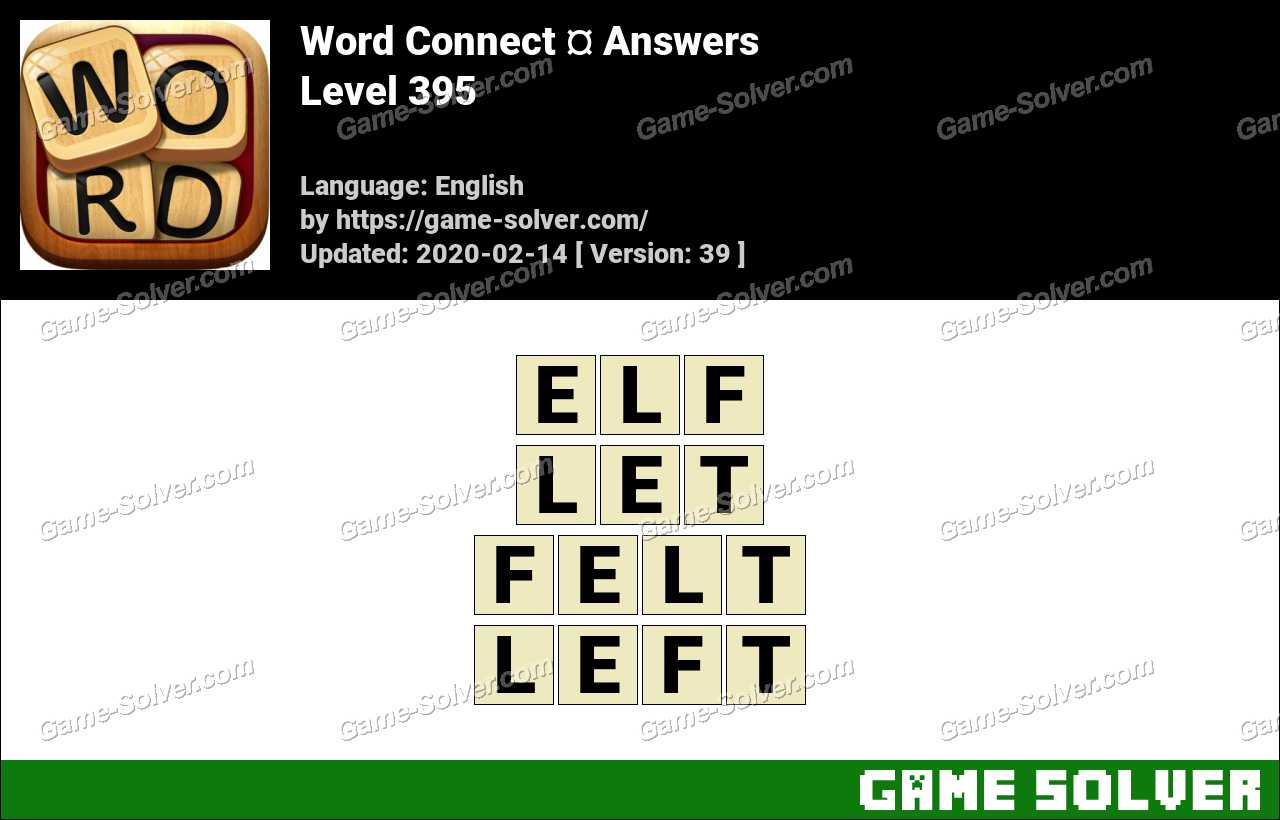 Word Connect Level 395 Answers