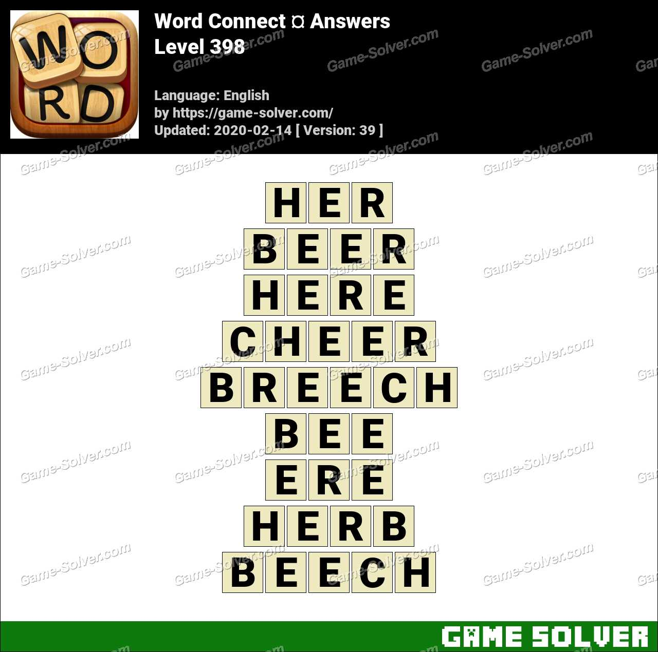Word Connect Level 398 Answers