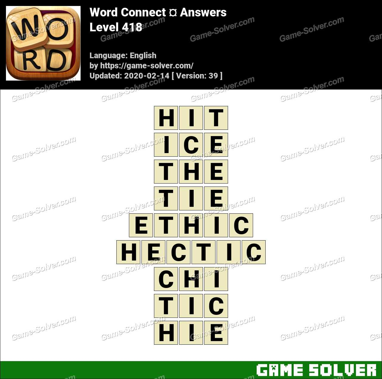 Word Connect Level 418 Answers