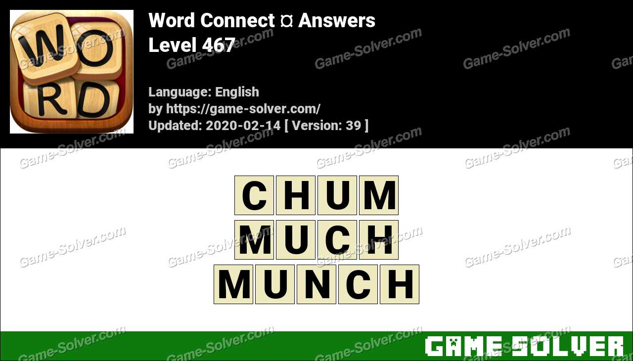 Word Connect Level 467 Answers