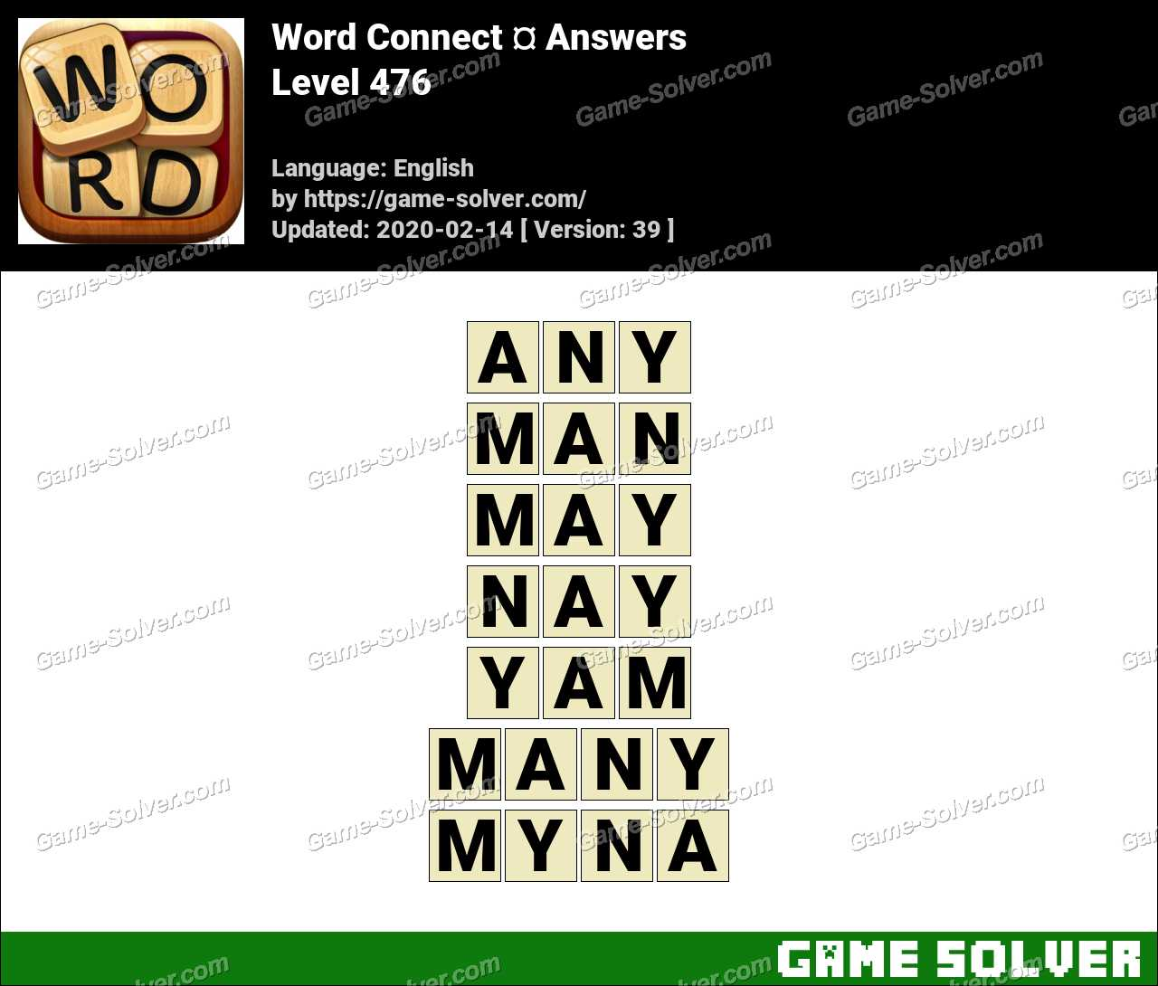 Word Connect Level 476 Answers