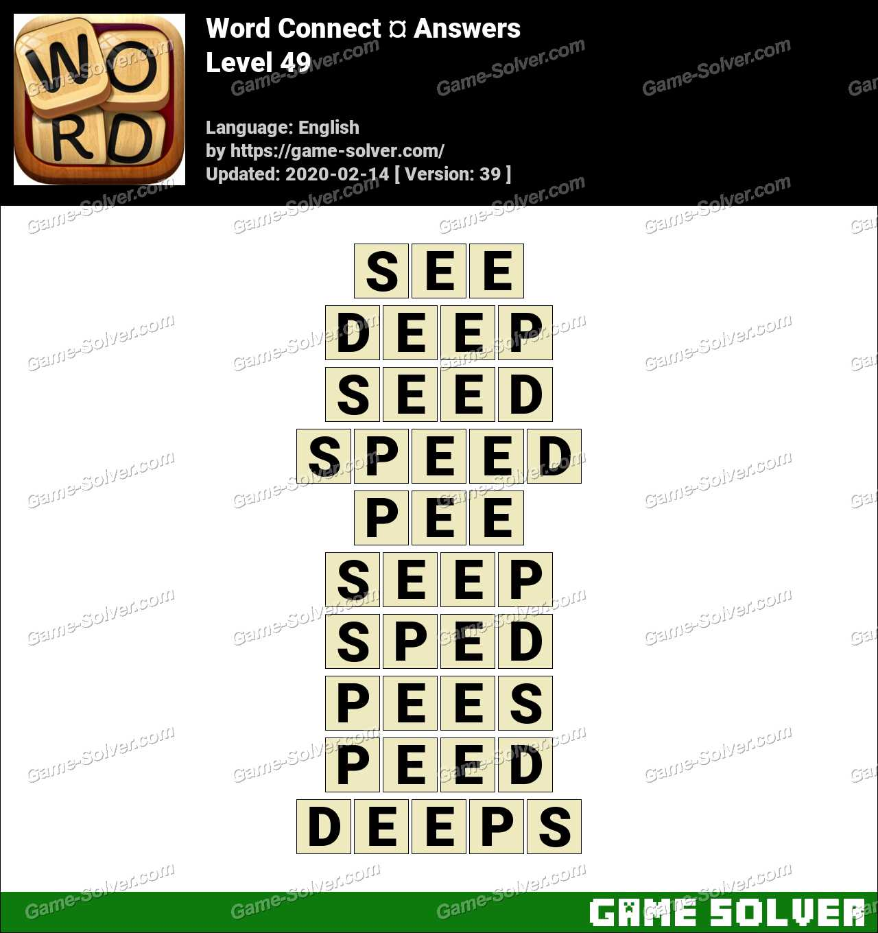 Word Connect Level 49 Answers