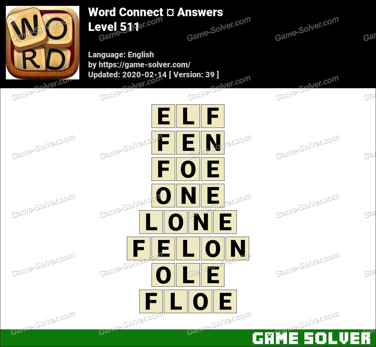 Word Connect Level 511 Answers