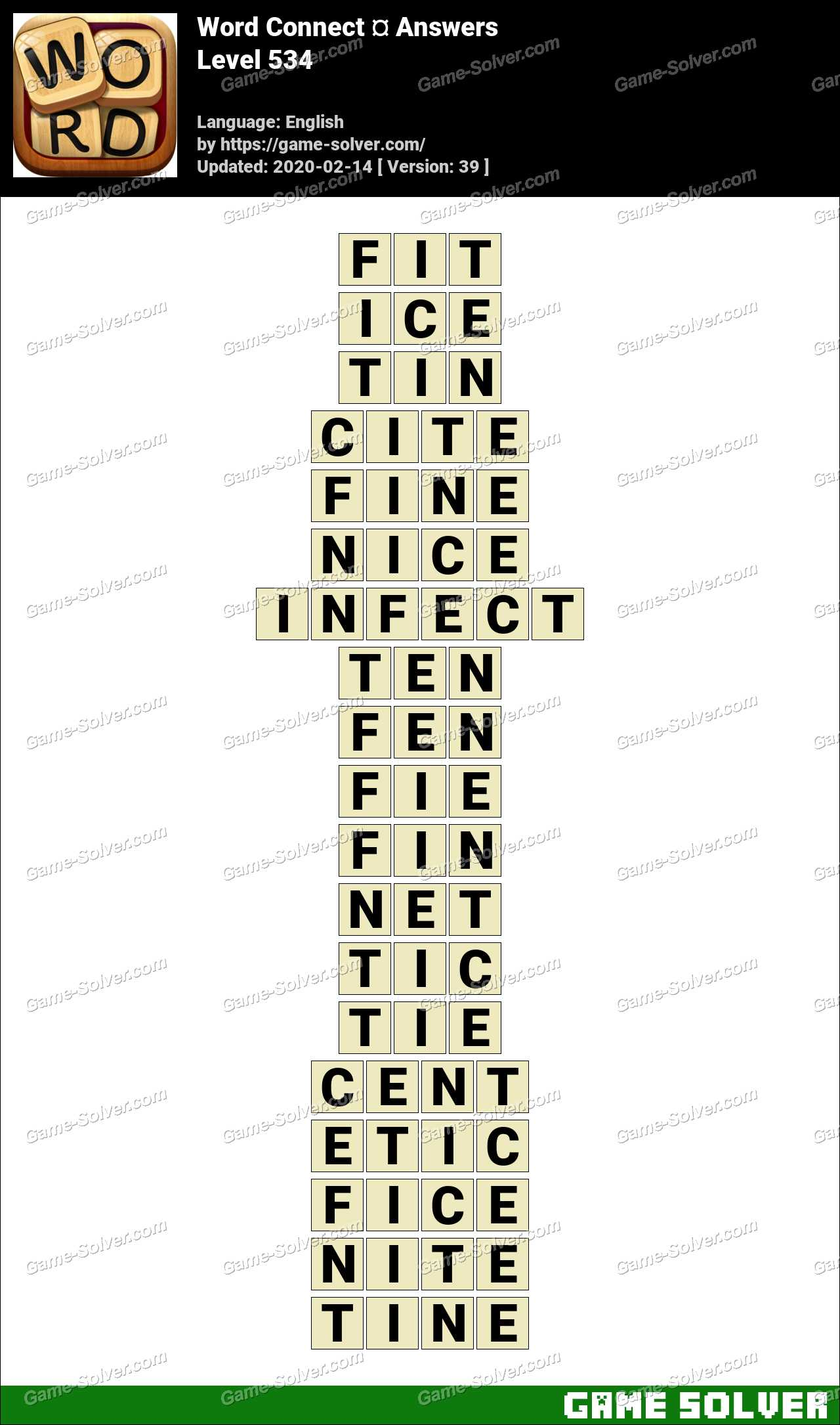 Word Connect Level 534 Answers
