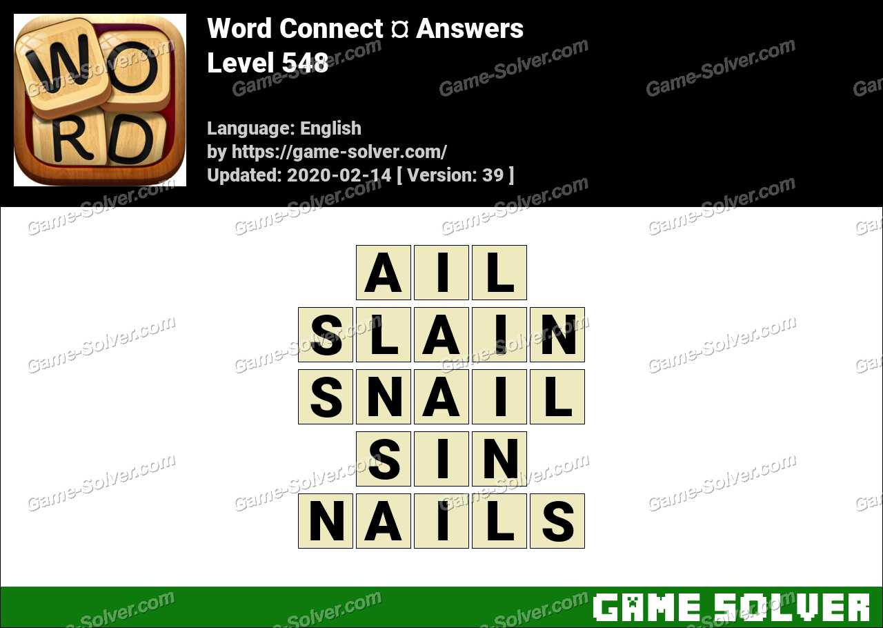Word Connect Level 548 Answers