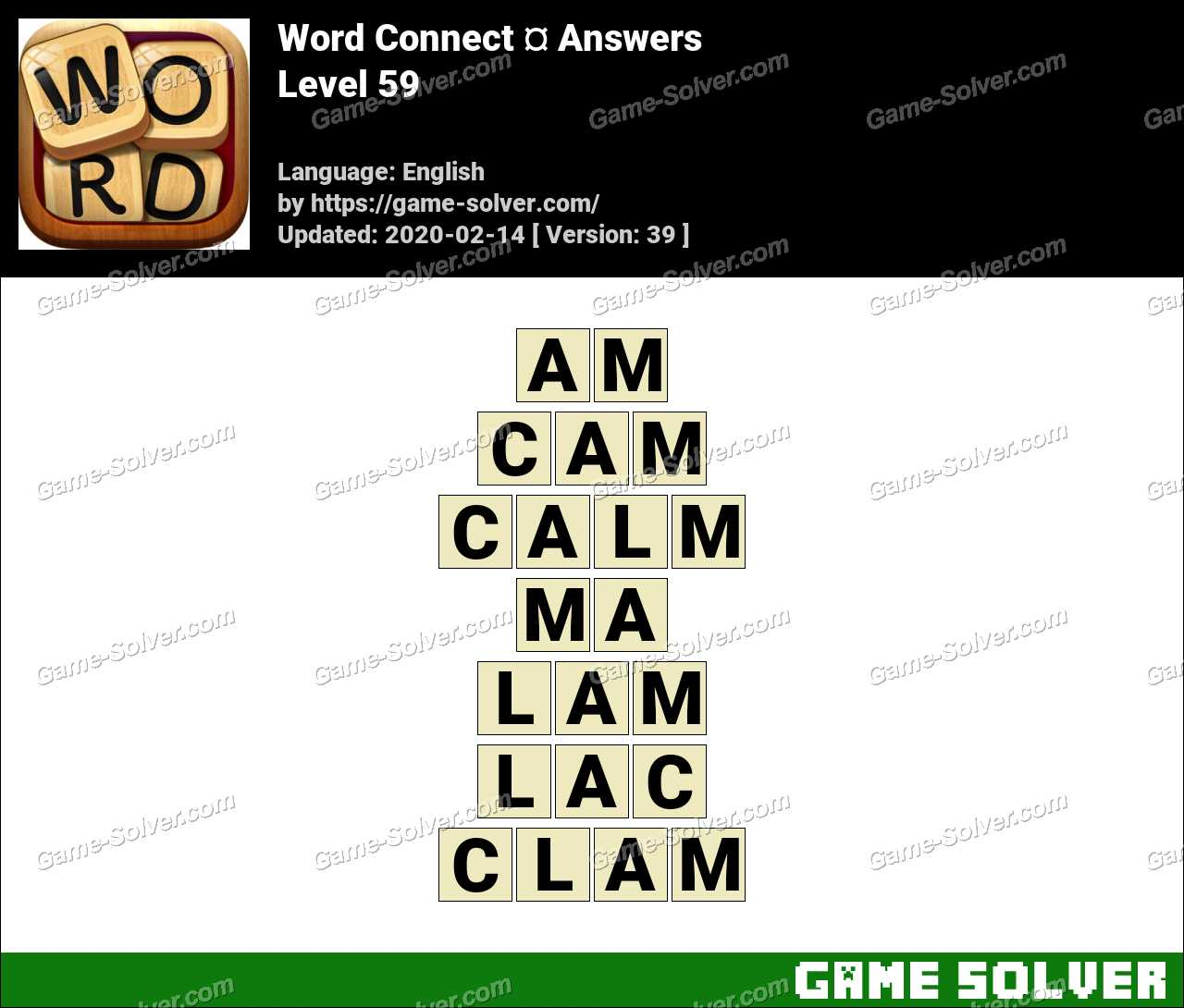 Word Connect Level 59 Answers