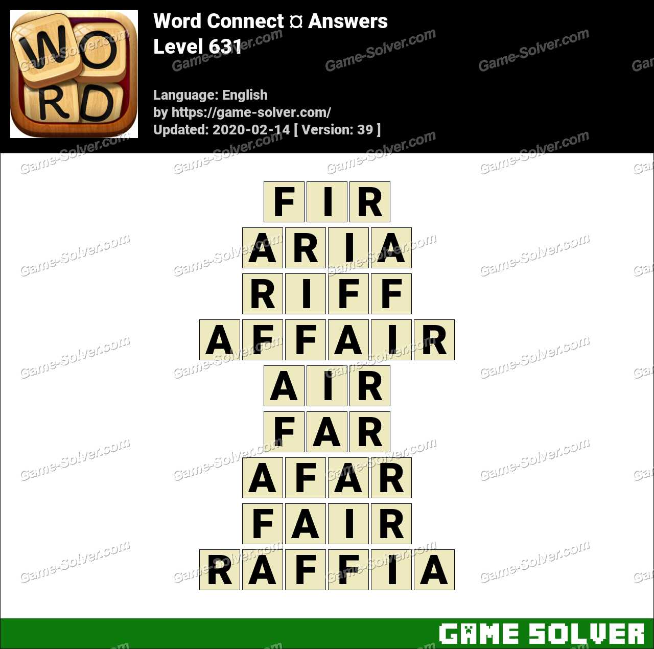 Word Connect Level 631 Answers