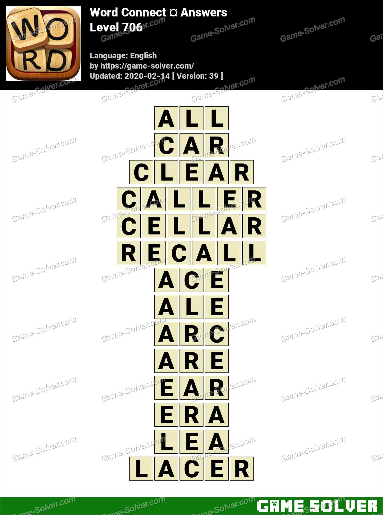 Word Connect Level 706 Answers