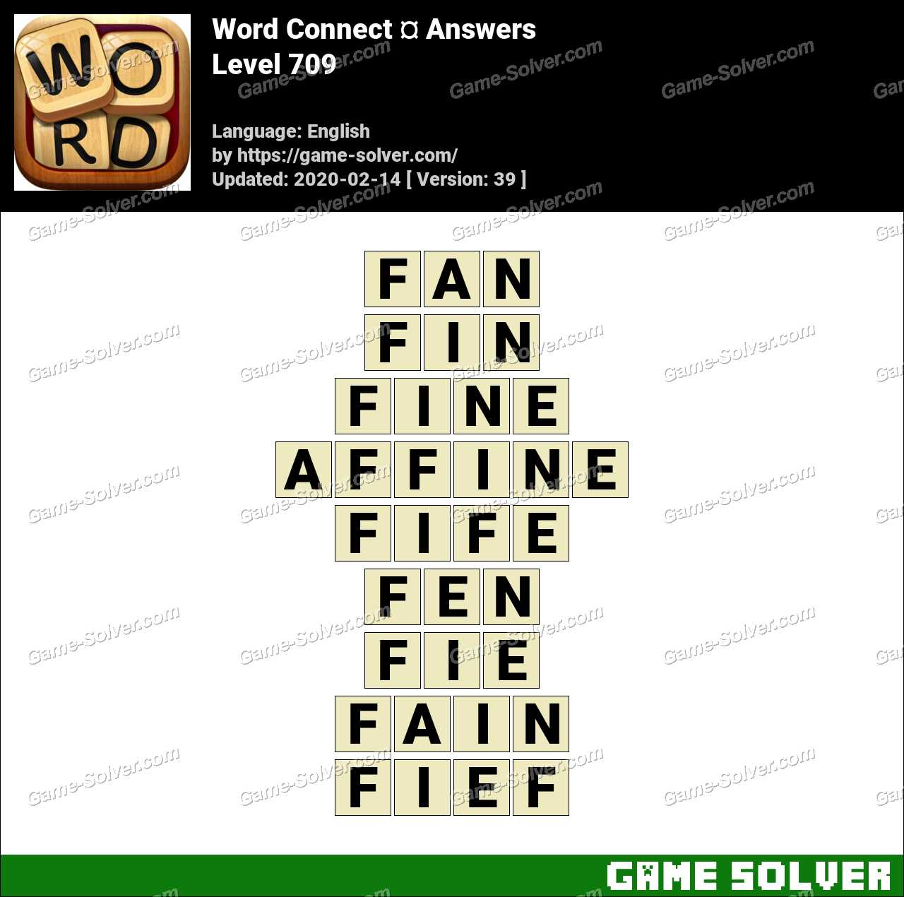 Word Connect Level 709 Answers