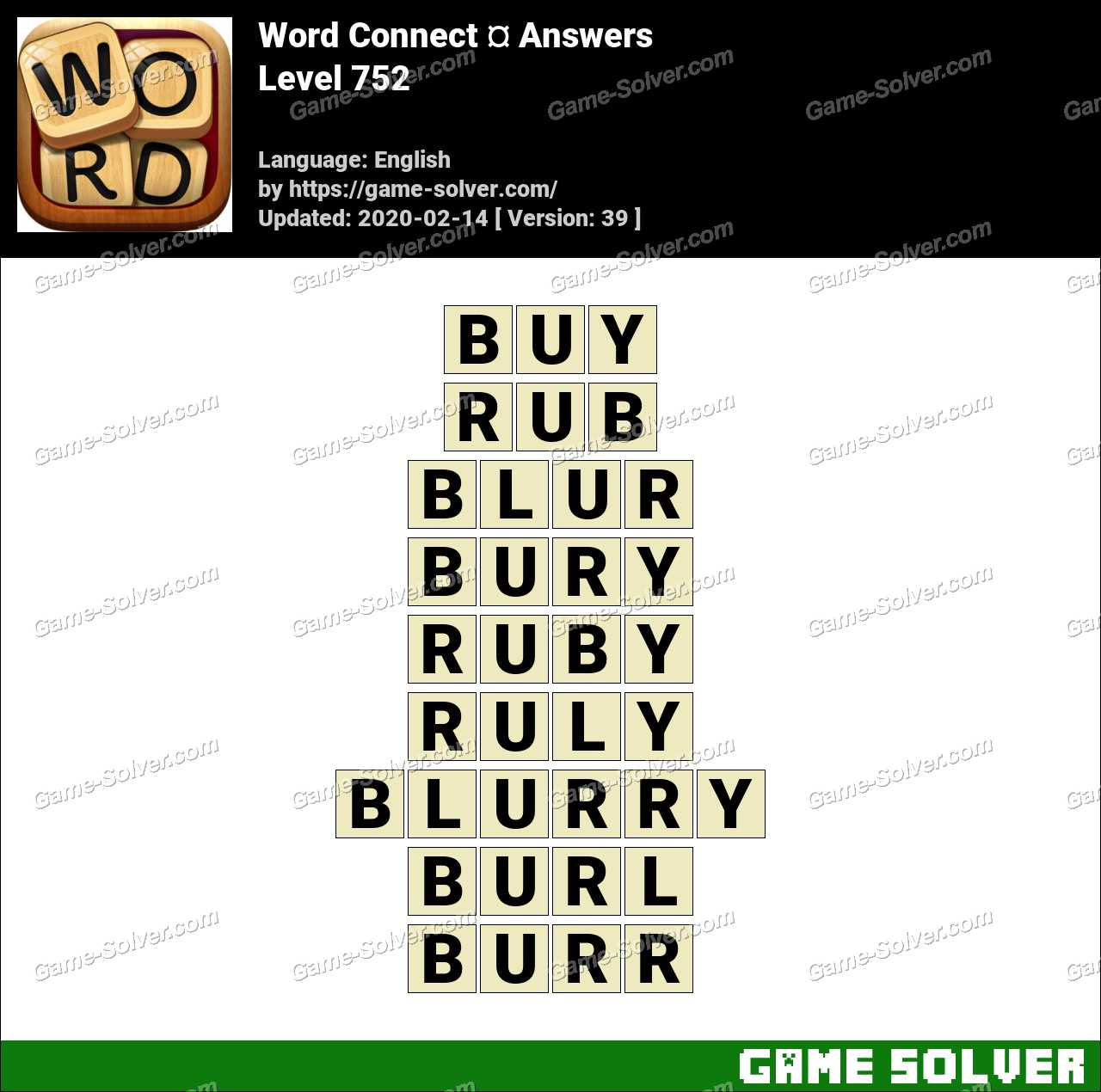 Word Connect Level 752 Answers