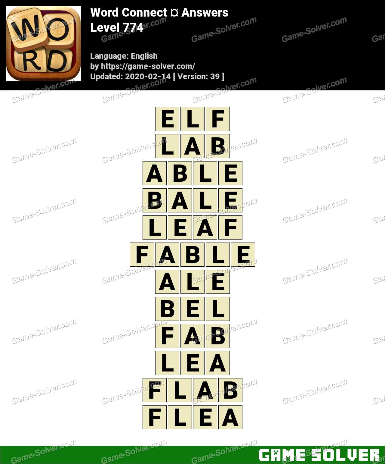 Word Connect Level 774 Answers