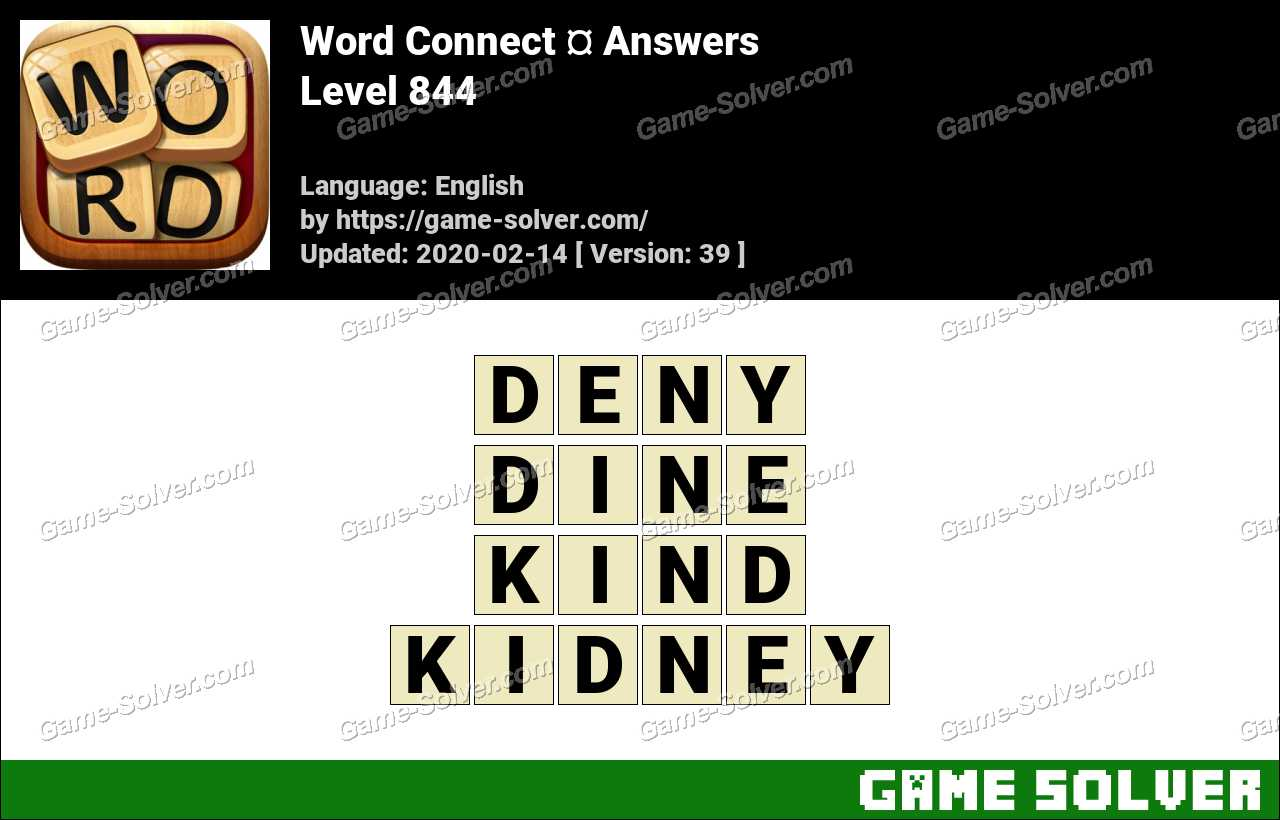 Word Connect Level 844 Answers