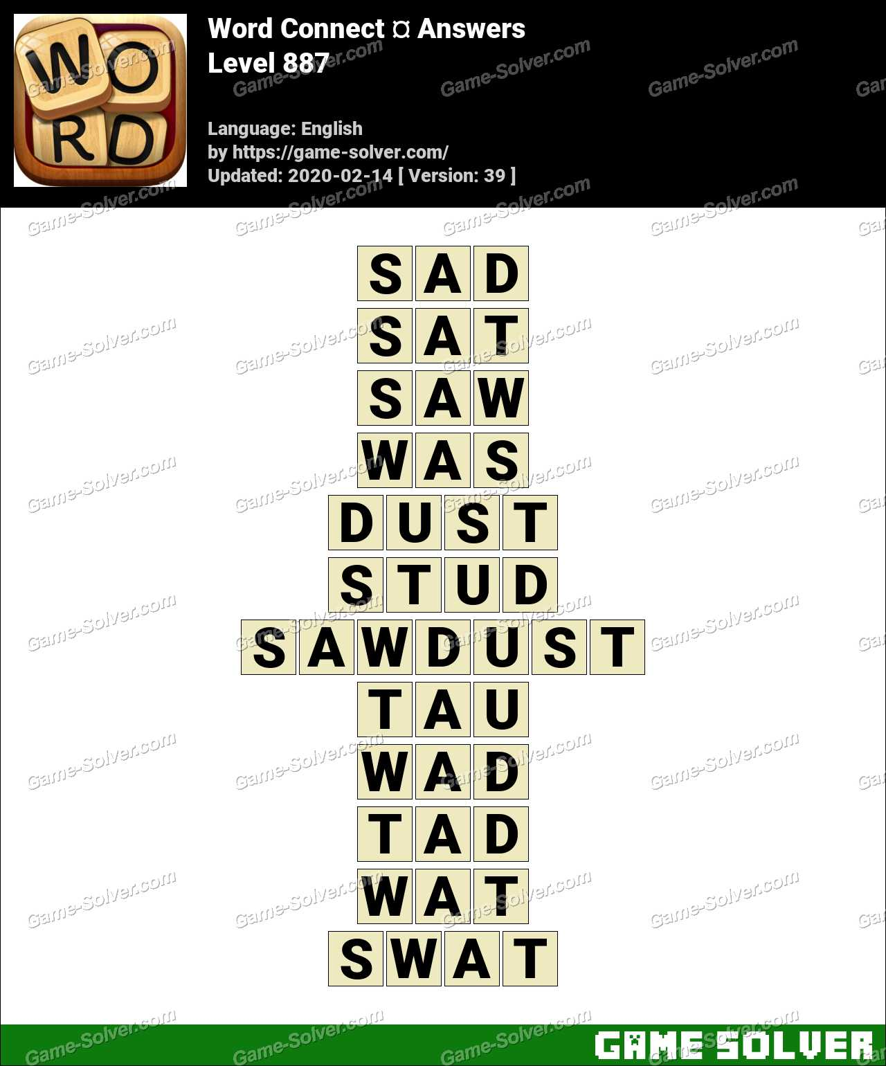 Word Connect Level 887 Answers