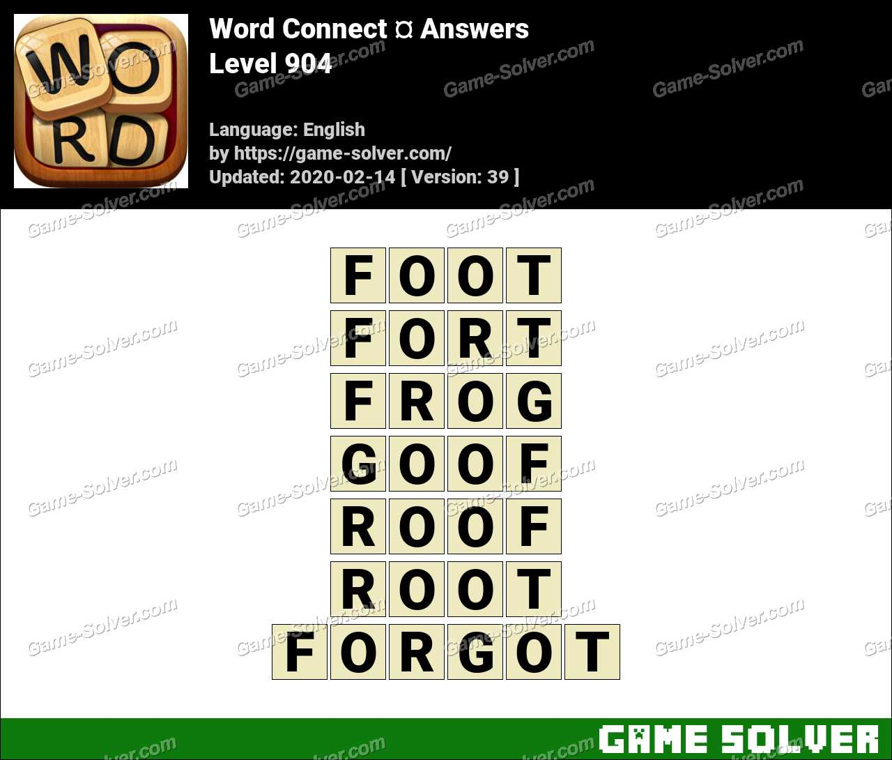 Word Connect Level 904 Answers
