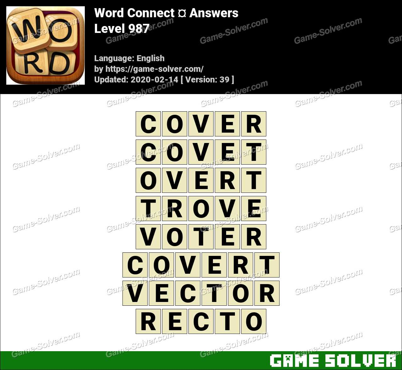 Word Connect Level 987 Answers