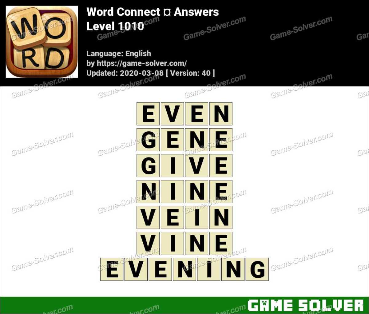 Word Connect Level 1010 Answers