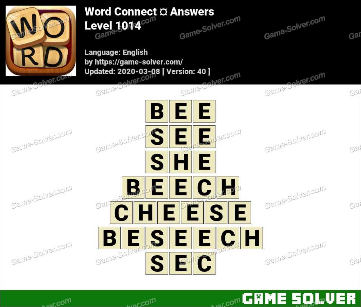 Word Connect Level 1014 Answers