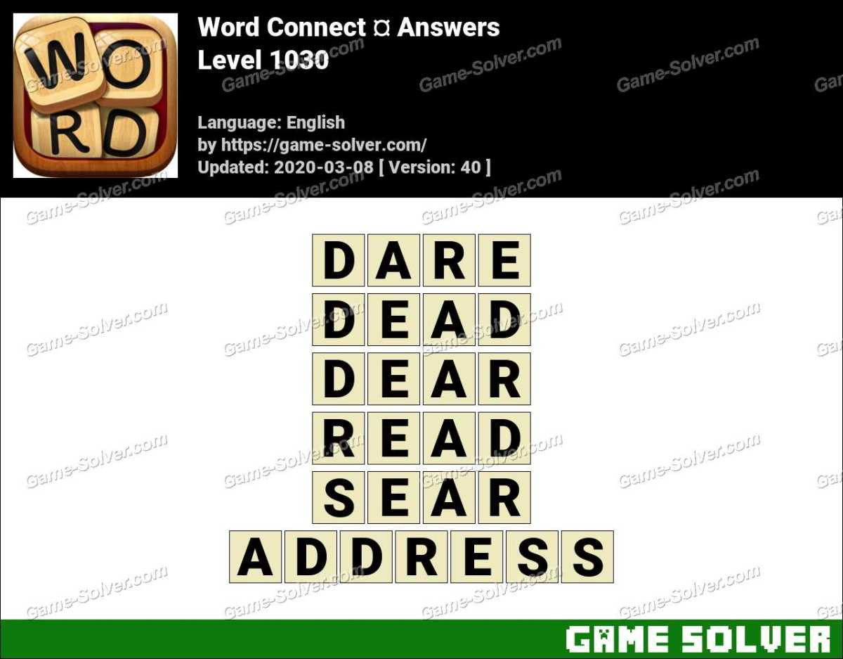 Word Connect Level 1030 Answers