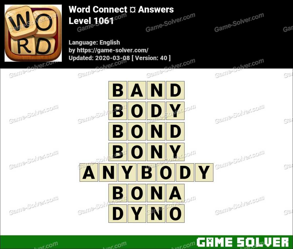 Word Connect Level 1061 Answers